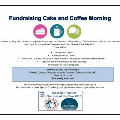 Fundraising Cake and Coffee Morning